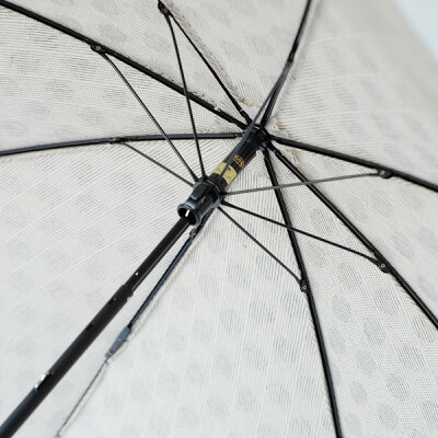 SURMER(シュールメール)コットン折り畳み日傘(日本製)/ジャガード水玉(バンブー麻紫外線対策お洒落シュルメールSURMER)