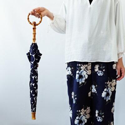 SURMER(シュールメール)コットン日傘(日本製)/ジャガード水玉(バンブー紫外線対策お洒落シュルメールSURMER)