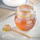 KILNER(キルナー)HONEY POT & DRIZZLER 0.4L(ハニーポット&ドリズラー)(はちみつ ハチミツ 蜂蜜 ジャム チョコレート 容器 保存瓶 ガラス おしゃれ Px10)の写真