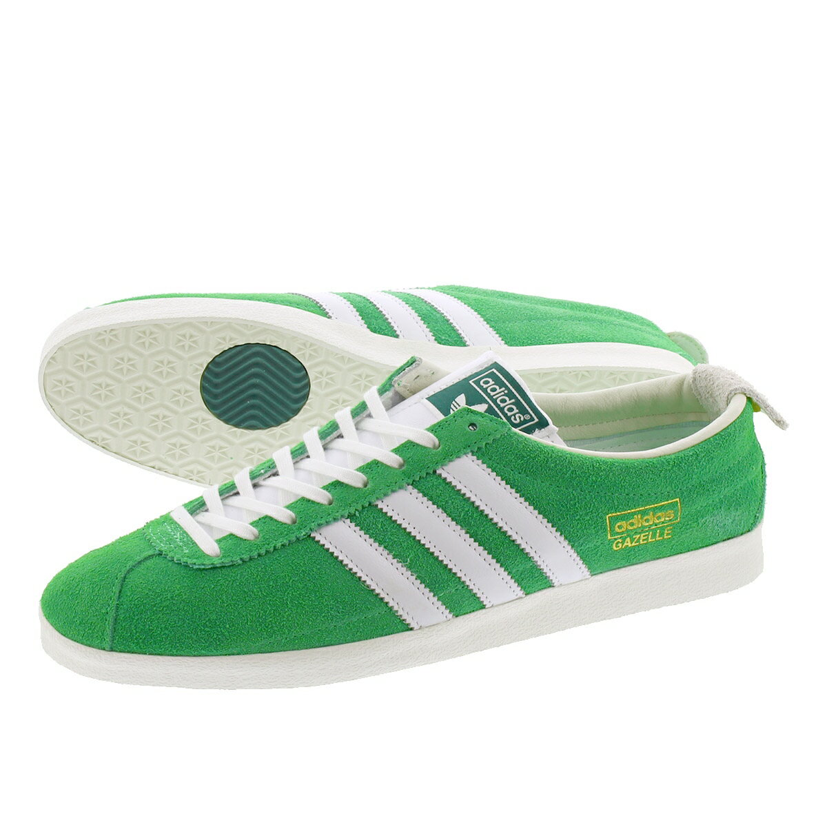 メンズ靴, スニーカー  adidas GAZELLE VINTAGE SEMI FLASH LIMEFTWR WHITEOFF WHITE ef5577