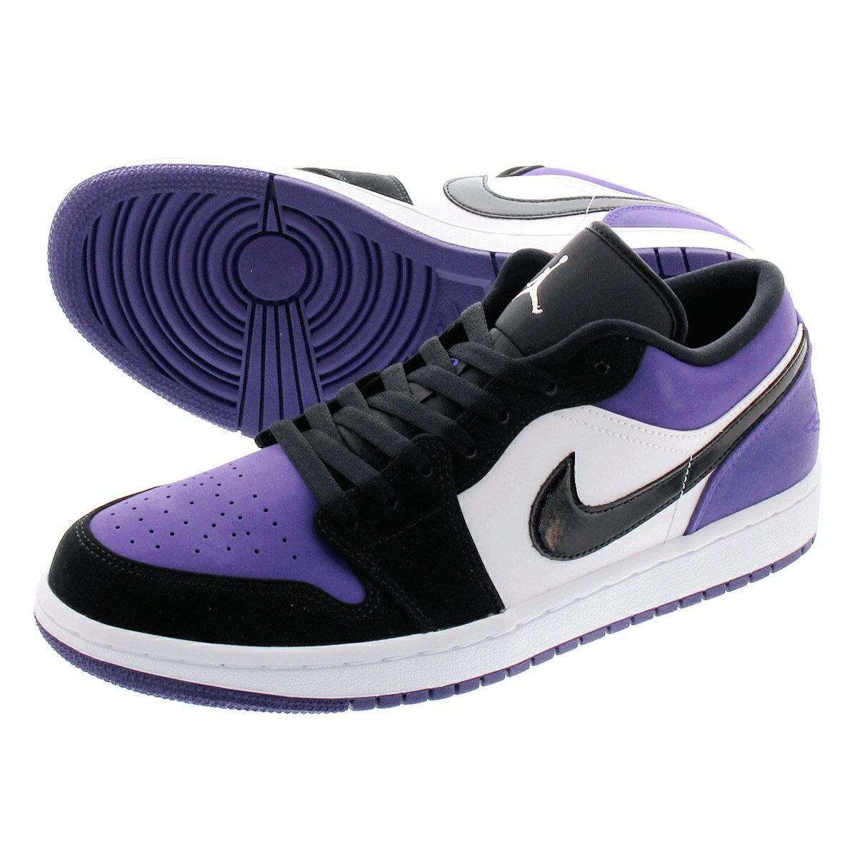 メンズ靴, スニーカー NIKE AIR JORDAN 1 LOW 1 WHITEBLACKCOURT PURPLE 553558-125