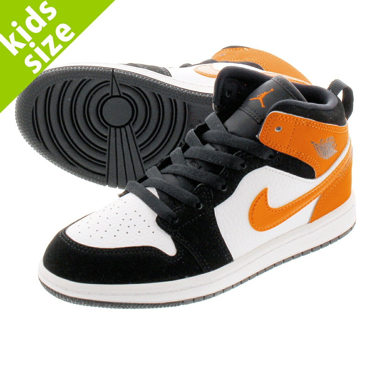 靴, スニーカー 16.022.0cm NIKE AIR JORDAN 1 MID PS SHATTERED BACKBOARD 1 PS BLACKSTARFISHSTARFISHWHITE 640734-058