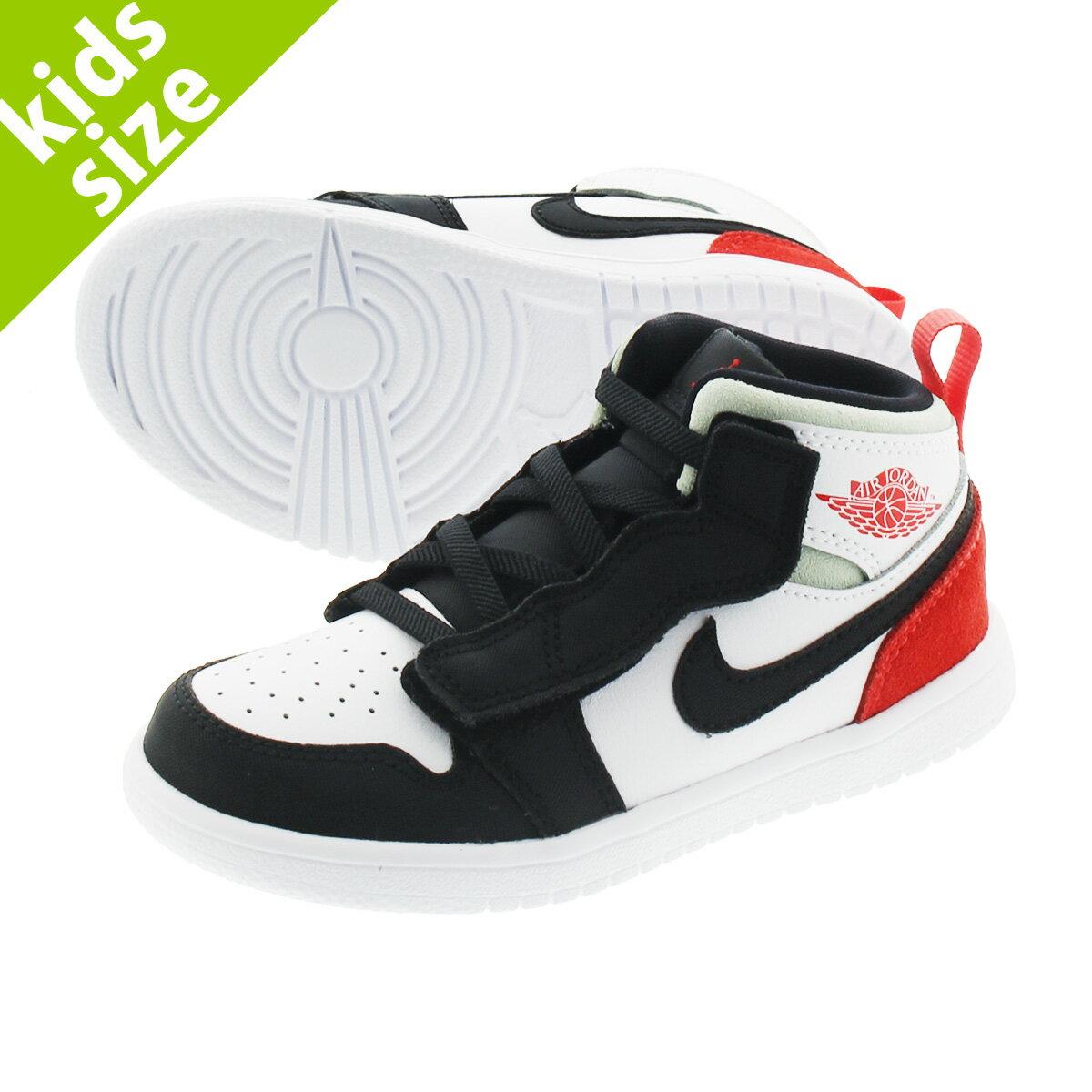 靴, スニーカー 8.016.0cm NIKE AIR JORDAN 1 MID ALT TD 1 ALT TD WHITETRACK REDBLACKIGLOO ar6352-100