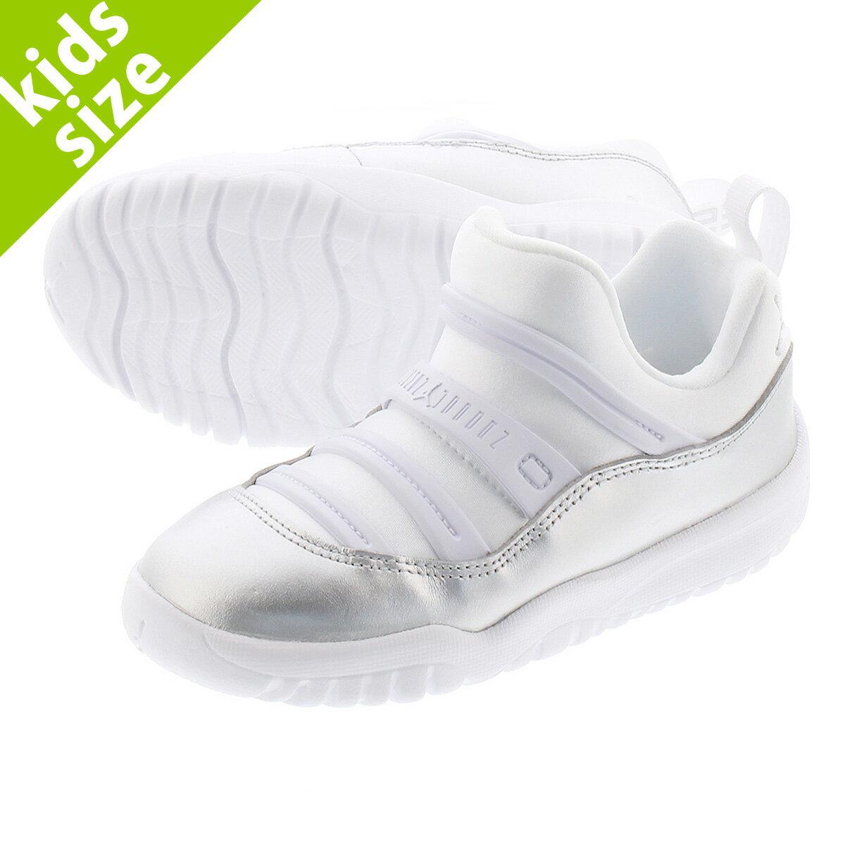 靴, スニーカー  8.016.0cm NIKE AIR JORDAN 11 RETRO LITTLE FLEX TD 11 TD WHITESILVER bq7104-100