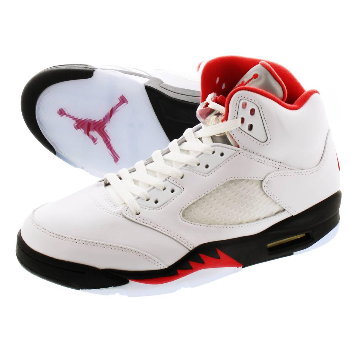 メンズ靴, スニーカー NIKE AIR JORDAN 5 RETRO 5 TRUE WHITEFIRE REDBLACK da1911-102