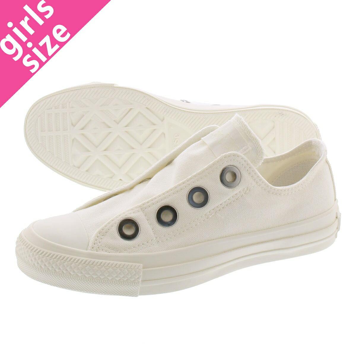 レディース靴, スリッポン CONVERSE ALL STAR BIGEYELETS MN SLIP OX MN OX WHITE 31301541