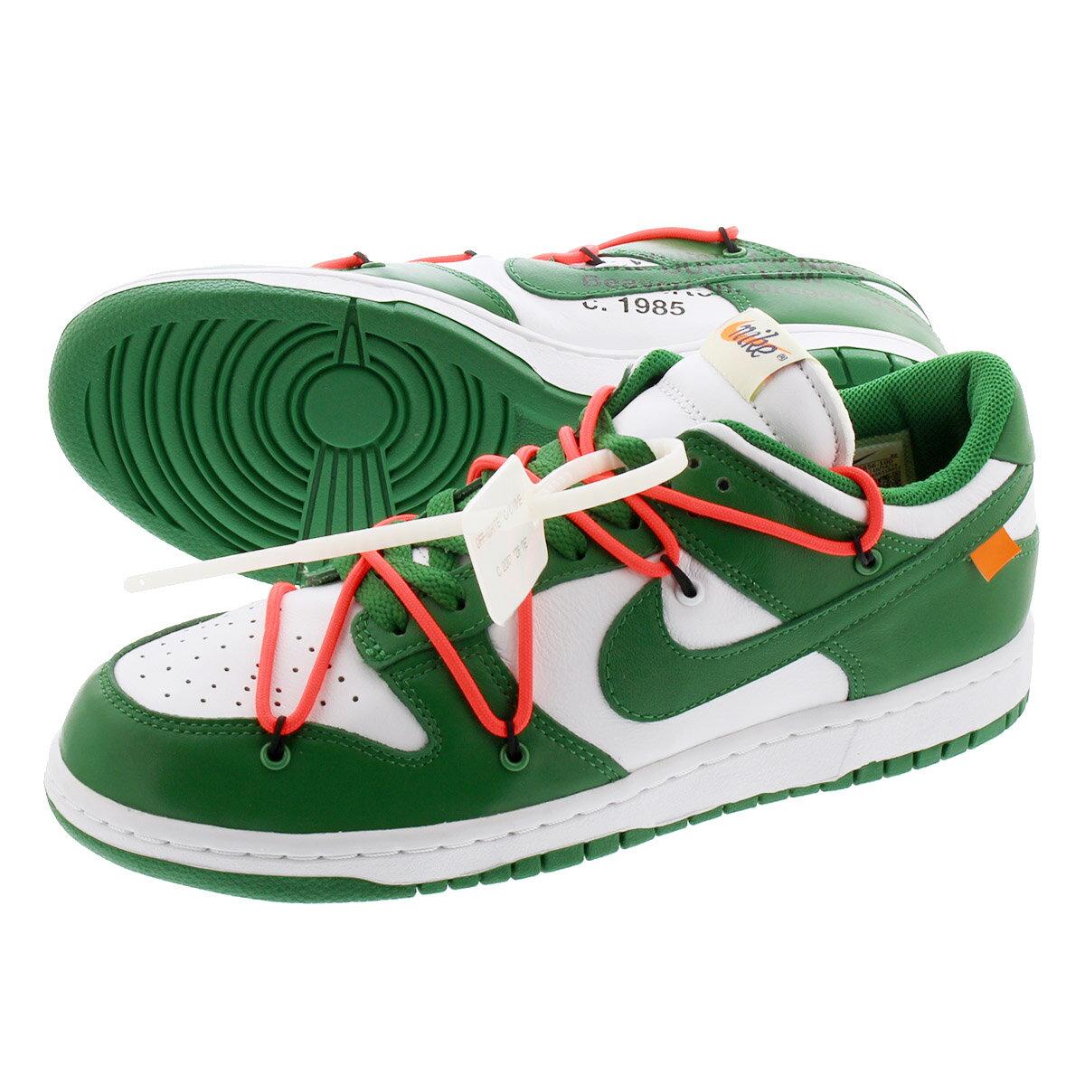 メンズ靴, スニーカー NIKE DUNK LOW LTHR OFF-WHITE WHITEPINE GREEN ct0856-100