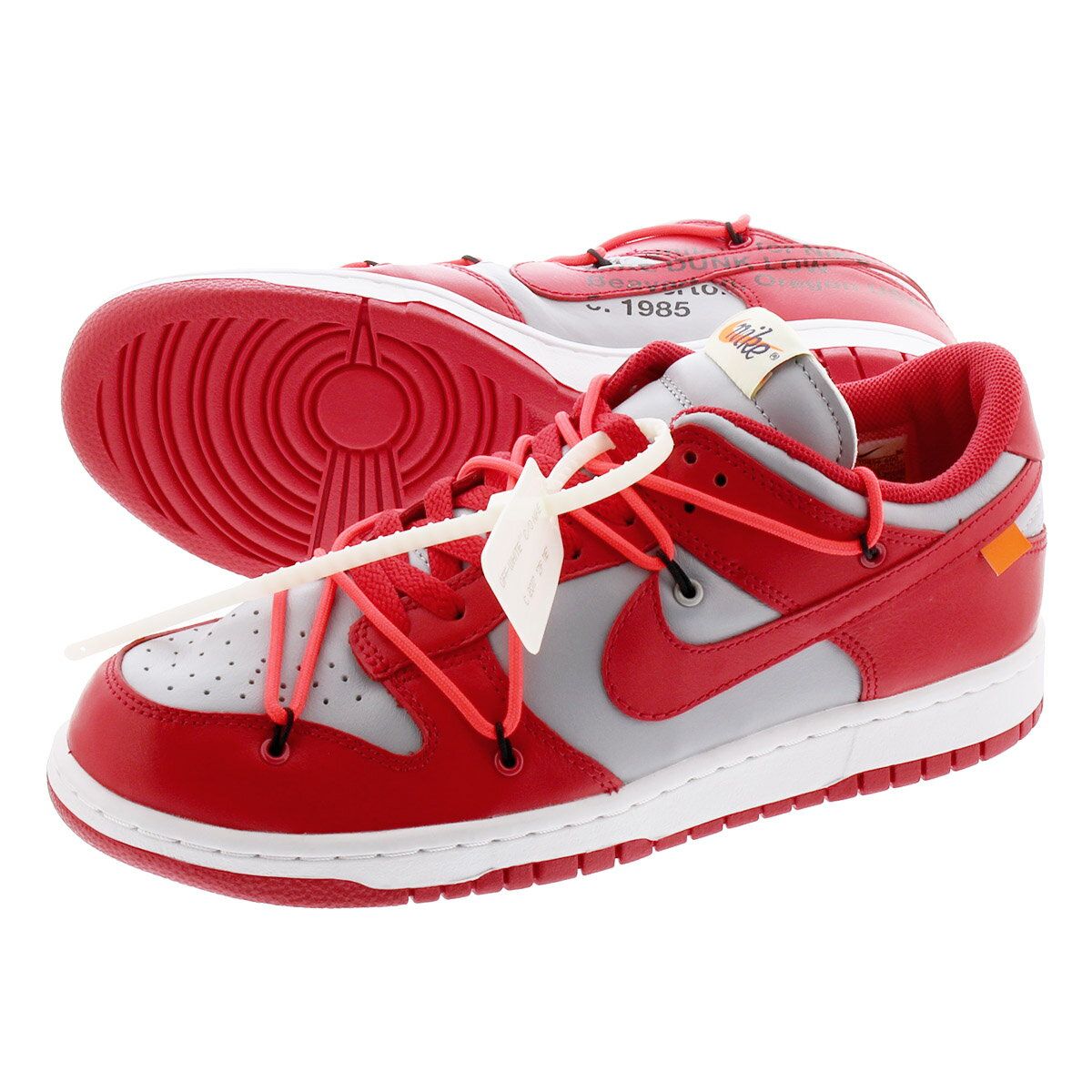メンズ靴, スニーカー NIKE DUNK LOW LTHR OFF-WHITE UNIVERSITY REDWOLF GREY ct0856-600