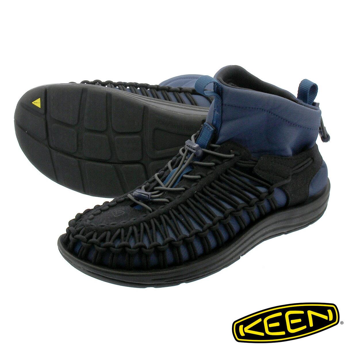 メンズ靴, スニーカー KEEN MEN UNEEK HT MID BLACKBLUE WING TEAL 1019976