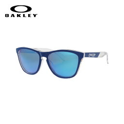 OAKLEY SUNGLASS FROGSKINS オークリー サングラス フロッグスキン POLISHED CLEAR/PRIZM SAPPHIRE POLARIZED 【ASIAN FIT】