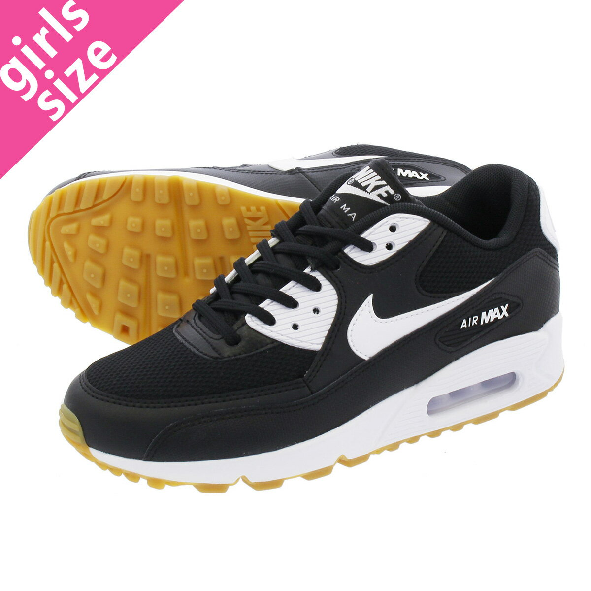 OUTLET NIKE WMNS AIR MAX 90 ESSENTIAL whtblk w.gry 616,730 111