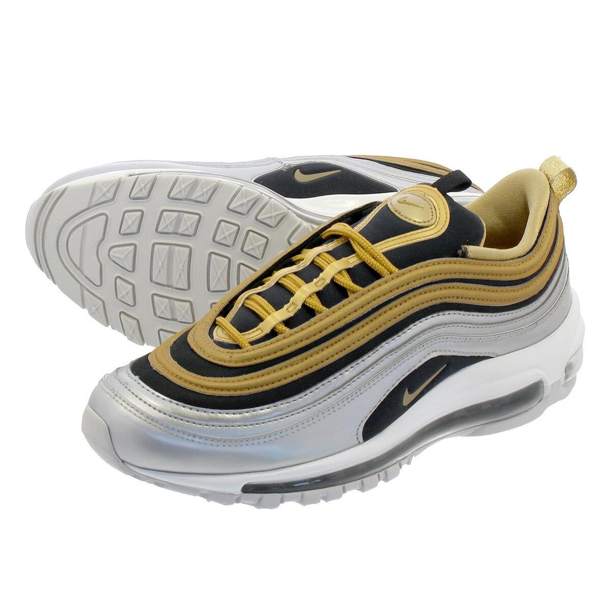 メンズ靴, スニーカー NIKE WMNS AIR MAX 97 SE 97 SE METALLIC SILVERMETALLIC GOLD aq4137-700