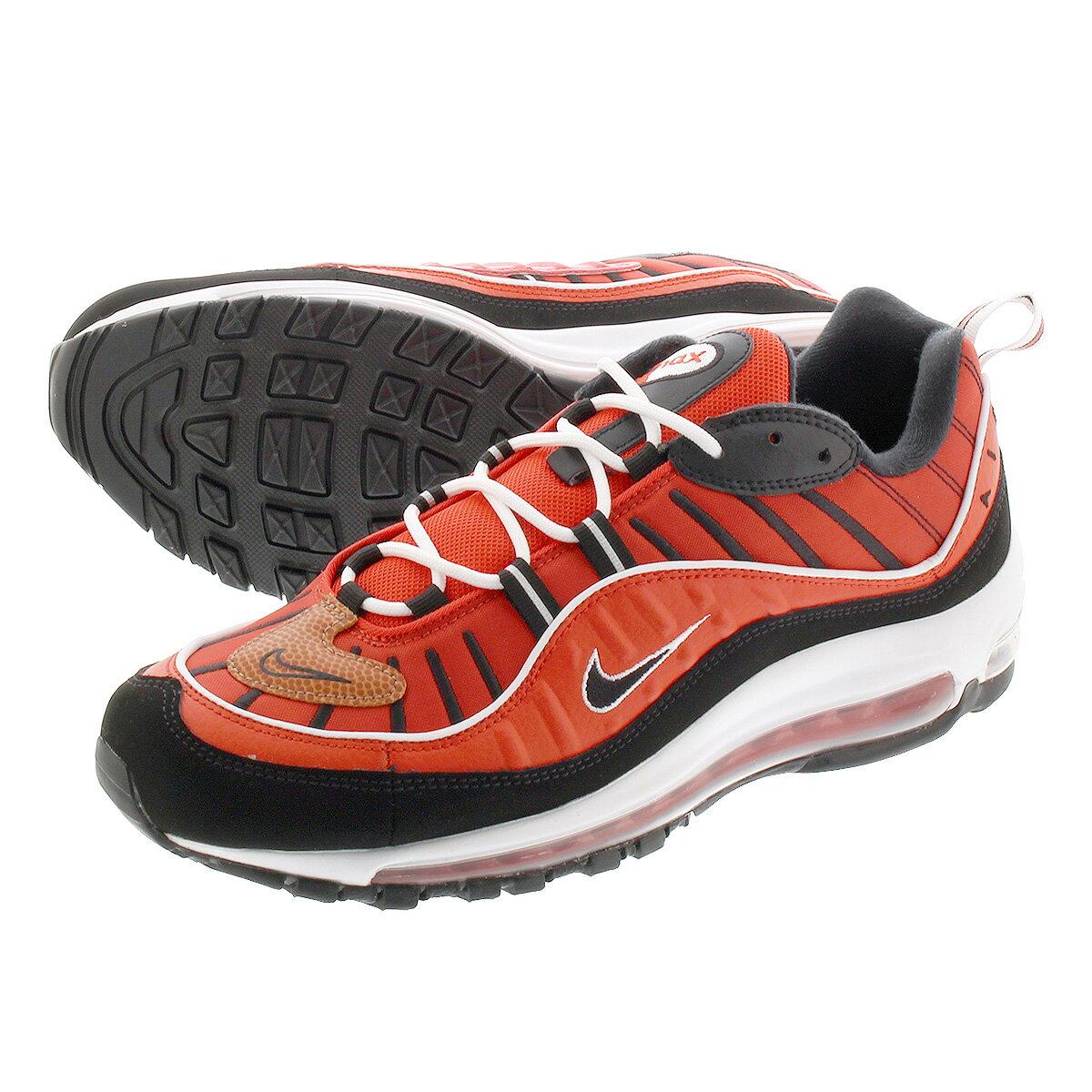 メンズ靴, スニーカー NIKE AIR MAX 98 98 HABANERO REDWHITEMETALLIC GOLDBLACK 640744-604