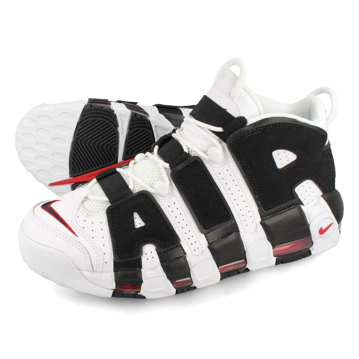 メンズ靴, スニーカー  NIKE AIR MORE UPTEMPO WHITEBLACKVARSITY RED 414962-105