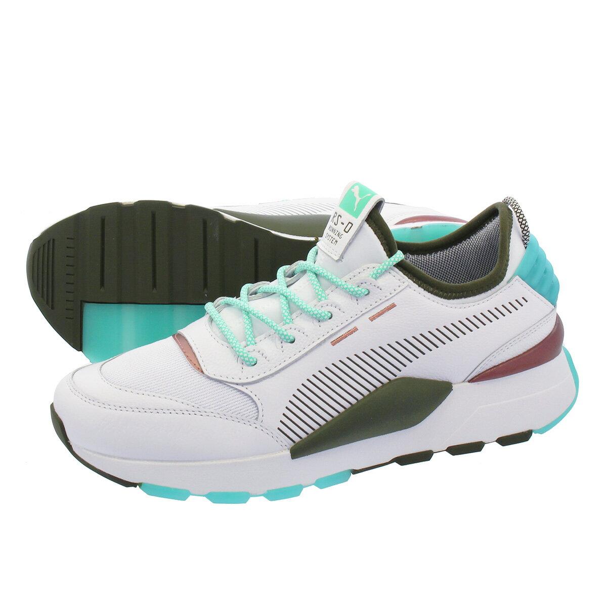 メンズ靴, スニーカー PUMA RS0 X EMORY JONES RS-0 PUMA WHITEBISCAY GREEN 368053-01