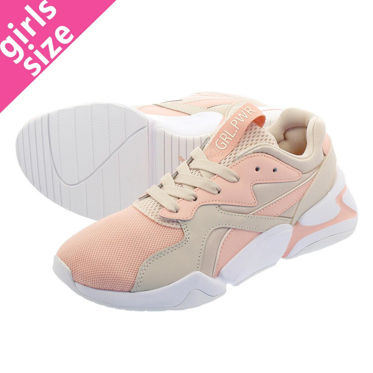 レディース靴, スニーカー PUMA NOVA GRL PWR WMNS GRL PWR PEACH BUDPEARL BLUSH 369656-02