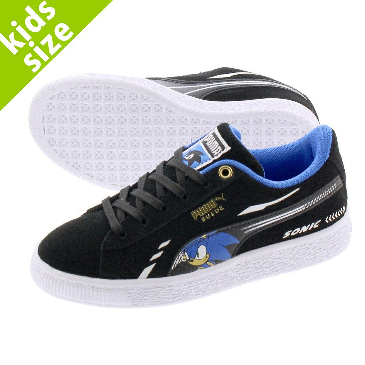 靴, スニーカー 17.021.0cm PUMA x SEGA SUEDE SONIC PS x PS BLACK 371998-01