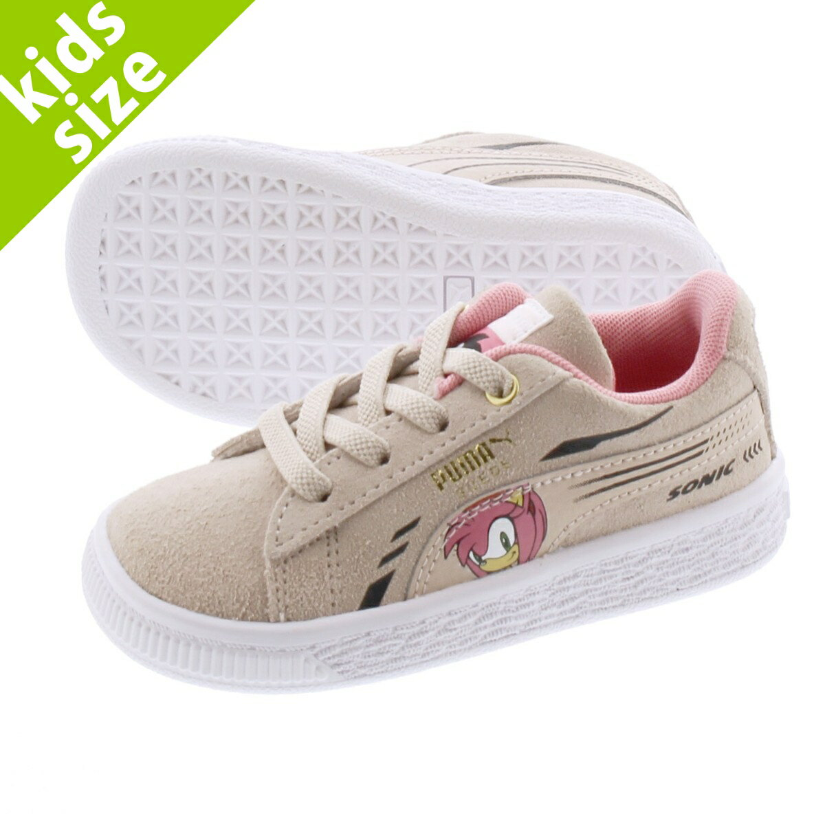 靴, スニーカー  12.016.0cmPUMA x SEGA SUEDE SONIC AC INFANT ROSEWATER 371999-02