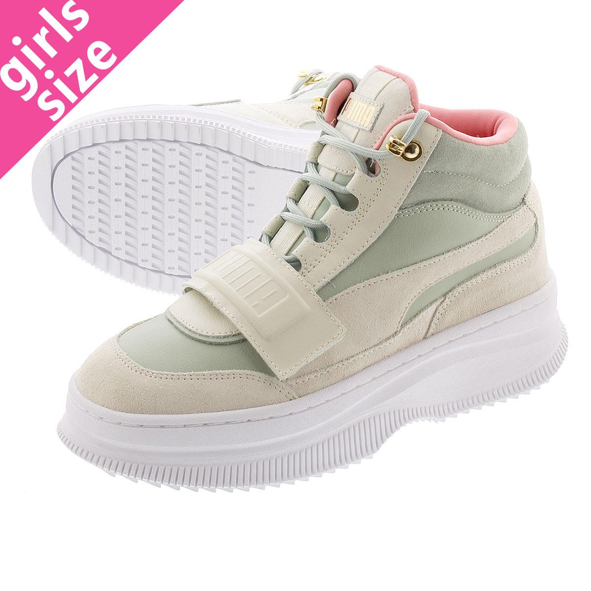 レディース靴, スニーカー SALEPUMA DEVA BOOTS SUEDE WMS VAPOROUS GRAYAQUA GRAY 374757-01