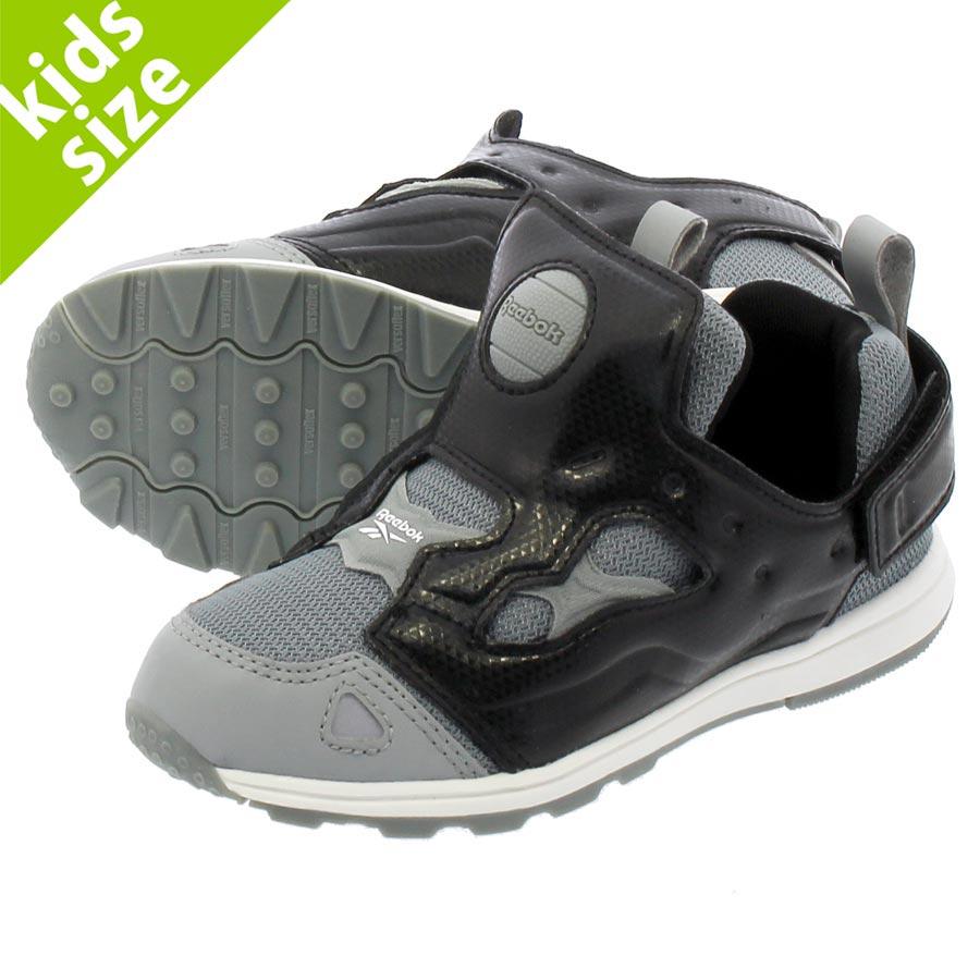 靴, スニーカー  11cm-16cm Reebok VERSA PUMP FURY SYN GP SYN GP BLACKGREYWHITE