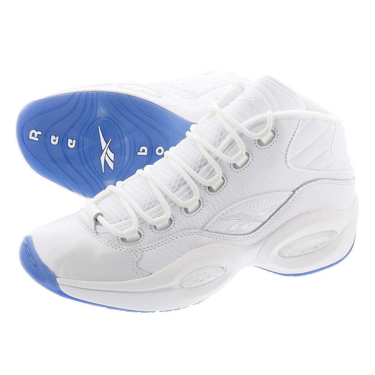 メンズ靴, スニーカー  Reebok QUESTION MID WHITEWHITEWHITE ef7598