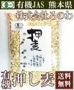 有機押し麦 300g×2袋(熊本県 株式会社ろのわ)有機JAS無農薬・送料無料・産地直送