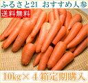 【定期購入】【訳あり】 にんじん 10kg箱×4箱定期配送(1週間に1箱)(ふるさと21)