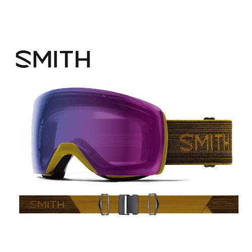 SMITH スミス 19-20 ゴーグル 2020 Skyline XL Mystic Green スカイラインエックスエル スキーゴーグル 球面 クロマポップ 調光:010260075