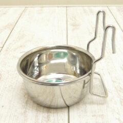 小型犬 チワワ 小さい フードボウル ハンガー式 引っ掛けて固定 ステンレス 食器 フードボール...