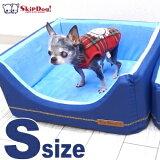【チワワベッド】チェアーズカドラーレトロデニムSサイズ(チワワ小型犬ベッド犬用ペット用デニム)