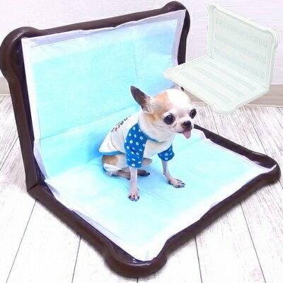 【チワワ トイレ】ピタっとジェル トイレトレー ワイドサイズ (チワワ 小型犬 フレーム シーツ L型 壁付トイレ マーキング)