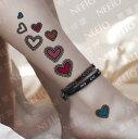 【可愛い色付きハート】フェイク タトゥーシール[temporary tattoos] 【RCP】刺青 入れ墨 シール 仮装 クラブ ハロウィン イベント ワンポイント アイコン