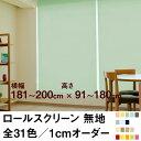 ロールスクリーン BASIC 無地(採光/ライトな遮光) 【横幅181〜200cm × 高さ91〜180cm】 オーダー メイド 立川機工製