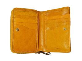 6cbfc1d634f6 石で磨き上げるグレージング加工を施したレザーを使ったDakota?モデルノシリーズの折財布です。  光沢感のある素材は手によくなじみ、ゴールドのファスナーとあいまって ...