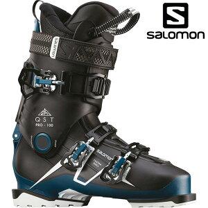 SALOMON サロモン 18-19 スキーブーツ QST PRO 100 クエストプロ100〔2019 スキーブーツ オールラウンドモデル 上級者 〕 (Black-Petrol ):L40553900 [outlet boot]