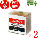 GABAN ギャバン スパイス 手作りのカレー粉セット 100g 2個 カレーペースト 食塩無添加 カレーライス 香辛料 調味料 減塩 塩分控えめ