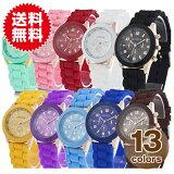 時計 腕時計 シリコンウォッチ シリコン レディース 腕時計 メンズ 腕時計 キッズ 腕時計 全13色 ポップカラー カラフル 春(目玉)