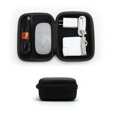 ガジェット マルチ ポーチ ガジェット ケース 小物入れ アダプター PC小物 スマホアクセサリー 収納 ケース 旅行 整理 ケーブル コード セミハード素材