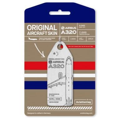 機体キーホルダー エアバス Aviationtag A320 B-2400 Aviation tag白 中国東方航空 飛行機 航空雑貨 エアライン雑貨 コレクション【正規代理店】