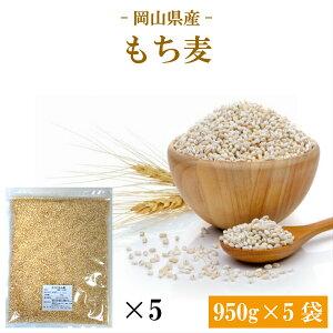 令和2年 もち麦 国産 岡山県産 キラリもち麦 950g×5袋 チャック付き 送料無料 雑穀・雑穀米 古代米 食品 安い 美容・ダイエット・健康