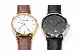 【Boeing Rotating Airplane Watch】 ボーイング 回転飛行機 腕時計 (シルバー/ゴールド)