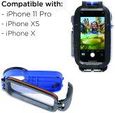AquaTech-AxisGO防水ハウジングforiPhone11Pro/XS/X【OceanBlue】