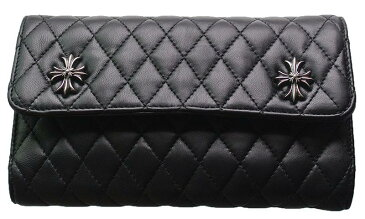 CHROME HEARTS WAVE WALLET #4 QUILTED 3 SNAP CH PLUS クロムハーツ ウォレット WAVE WALLET #4 キルト 3 SNAP CHプラス  モチーフ