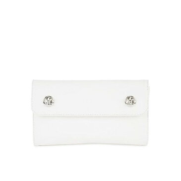 CHROME HEARTS WAVE WALLET WHITE LEATHER クロムハーツ ウォレット ウェーブ・クロス・ボタンズ ホワイトレザー