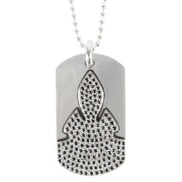 CHROME HEARTS DOG TAG FLERKNEE / BLACK DIAMOND クロムハーツ ドッグタグ フレアニー ネックレス ブラックダイヤモンド