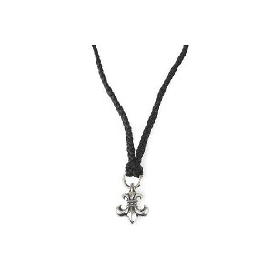 chrome hearts bs fluer pendant on leather braid wbolo tips bs bs mozeypictures Image collections