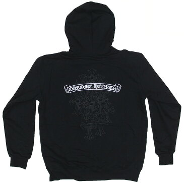 CHROME HEARTS HOODIE ZIP LINED CEMETERY CROSS W/SPIKE BOLO TIPS クロムハーツ スウェットパーカー 最新作 セメタリークロス スパイクボロチップ