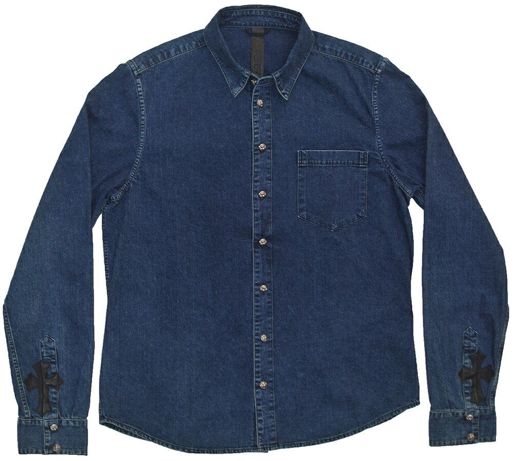 トップス, カジュアルシャツ CHROME HEARTS DENIM SHIRT V1