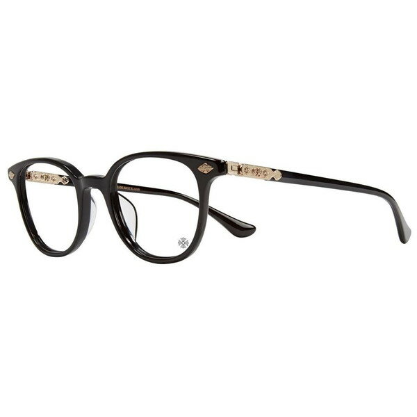 PORNOGRANATE BLACK/GOLD PLATED 49-22-152 クロムハーツ アイウェア 眼鏡:SKYTREK