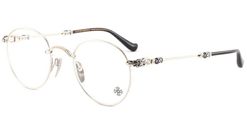 眼鏡・サングラス, サングラス CHROME HEARTS BUBBA - A SSGP-P Shiny Silver Gold plated - Plastic 49-22-145 Eyewear Glasses